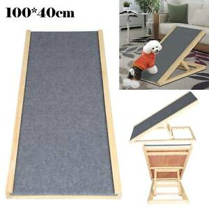 Portable Freestanding Dog Adjustable Heights Non-Slip Puppy Ramp Carpet Stair.