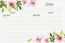 """Jot & Mark Recipe Cards Floral Double Sided 4"""" x 6"""", 50 Count (Pink Peonies)"""