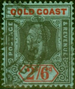 Gold Coast 1921 2s6d Black & Red-Blue SG81a Die II Fine Used Stamp