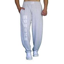 graue glatte Fitnesshose  Gymhose Sporthose Freizeithose mit Aufschrift MORDEX