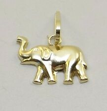 Brand New 14K Real Solid Gold Elephant Charm or Pendant - Medium