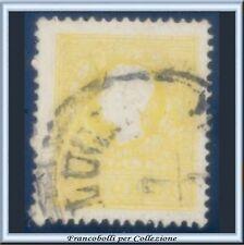 Italia ASI 1858 Lombardo Veneto 2 soldi giallo n 23 Usato Antichi Stati Italiani