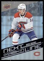 2019-20 UD Overtime Wave 2 Next In Line #NL-4 Nick Suzuki - Montreal Canadiens