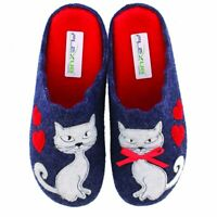 Flexus Pennelopie Women's Indoor/outdoor wool slipper featuring Kitties EUR 40