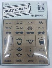 Daily Muse Smiles Frowns & Smirks Peg Stamp Set Inkadinkado