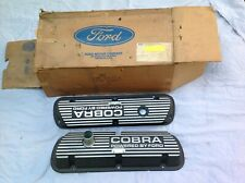 1965/1970 Ford Mustang GT350 289 302 351W Cobra Valve Covers - Pair NOS