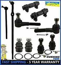 10 Pc Suspension Steering Kit Drag Link Tie Rod Ball Joint F150 Ford Bronco