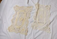 Antique Vintage Netted Doilies Tray Liners - Set of 2 - Beautiful Details