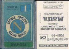 CALCIATORI PANINI 1989/90* FIGURINA STICKER N.250*SCUDETTO NAPOLI*NEW