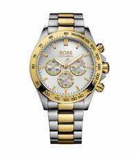 Hugo Boss Herren Uhr 1512960 Ikon Gold/Silber Bicolor Chronograph Neu