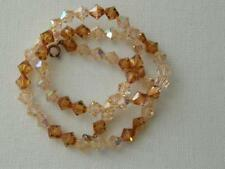 Pretty Vintage Peach & Amber Faceted Crystal Necklace