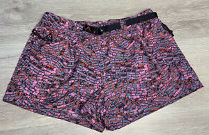 Nike Women's ACG Woven Trail Hiking Shorts  Red Gray Multicolor Size Large NWT