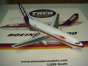 "Inflight 200 TACA International Airlines B737-200A ""1970s color"" 1:200 Diecast"