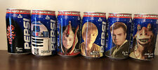 Star Wars: Phantom Menace Sealed In Can Japanese Pepsi Cans - Complete Set! Rare