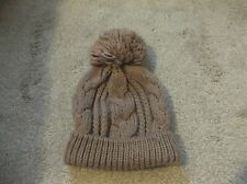 New look chunky knit hat mink