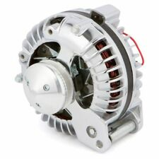 Chrysler 1 Wire Alternator, 100 Amp, Chrome Plated, Mopar 2 groove pulley