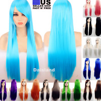 80cm Long Straight Women Cosplay Costume Party Hair Anime Wigs Full Hair Wig