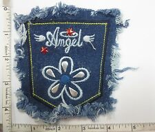 Appliques Embroidery Patch Sew on, Denim Applique Patch, Motif Craft Fabric 1pc