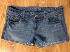 Women's American Eagle 14 Cut-off Jeans Denim Shorts. Inseam