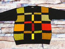 * Carlo Colucci Casual Retro Pullover * Pastel Colorful Neon *Vintage *Size: XL*