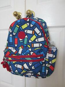 "Kipling Bouree15.7"" Backpack w/water bottle pockets Pencil Scatter NWT $119"
