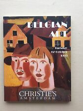 BELGIAN ART an auction catalogue for the sale at CHRISTIE'S AMSTERDAM 1999.