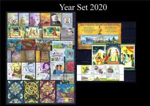 ISRAEL 2020 COMPLETE FULL YEAR 32 STAMPS WITH TAB + 2 SOUVENIR SHEET MNH