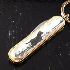 BARLOW KNIFE SCRIMSHAW LABRADOR RETRIEVER GENTLEMANS KEYCHAIN MINI FOLDING