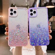 TPU+PC Bling Glitter Gel Bumper Shockproof Case Cover For iPhone 11 Pro XS XR 8