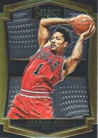 2015-16 Select Basketball #103 Derrick Rose Premier Level Chicago Bulls
