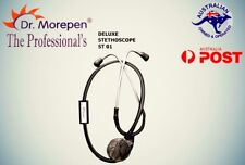STETHOSCOPE MEDICAL SERIES DUAL HEAD BLACK Dr Morepen Premium Free ear knobs
