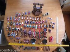 Playmobil large lot of 54 soldiers w catapults crossbows roman vikings etc
