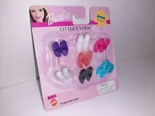 Barbie Little Extras High Heels Shoes NEW on Card 7 Pair 1999