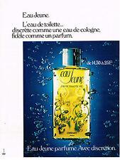 PUBLICITE  1972   EAU JEUNE  eau de toilette parfum