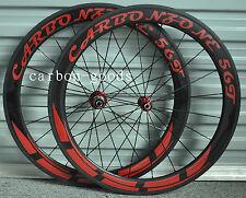 700C rim brake Carbon 56mm Road Bike Racing Bicycle/TT Tubular Wheelset decals