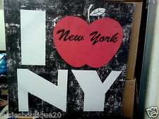 Large Pop Art I LOVE NY Big Red Apple American Bronx Style Canvas Print BNWT