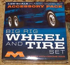 Moebius Modern Big Rig Wheel and Tire set model kit 1/25
