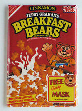 Teddy Grahams Cereal Fridge Magnet (2 x 3 inches) cinnamon breakfast bears box