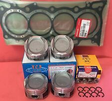 YCP 75mm Teflon Coated Vitara Pistons Low Comp+ NPR Rings+Gasket Honda D16 Turbo