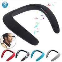 Bluetooth Wireless Neck Speaker Music Sport Speaker Sweatproof for Samsung S8 S9