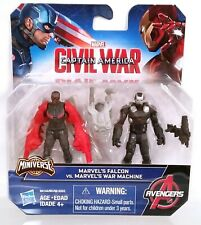 "new Captain America Civil War Miniverse 2.5"" Falcon vs War Machine figure 2 pack"