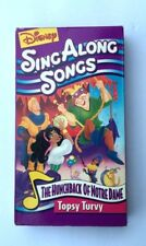 VHS, Disney Sing Along Songs, Hunchback of Notre Dame, Topsy Turvy  (1996)