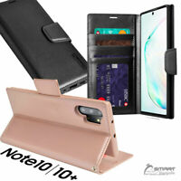 HanMan Wallet Flip Card Slot Case Cover For Samsung Galaxy Note10 Note 10 Plus