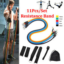 11pcs Fitness Resistance Bands Exercise Bands Portable Home Gym Accessories
