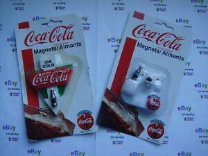 "Refrigerator Magnet Polar Bears Sold Here/"" /"" Coca Cola"