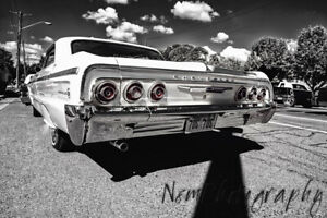 12x18 in Lowrider Poster 1964 Chevy Impala Vintage Hot Rod Garage Art Man Cave