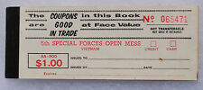 Wartime 5th Special Forces Group Mess Chit Book