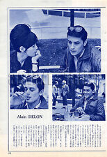 1964, Claudia Cardinale / Alain Delon Japan Vintage Clippings 4et10