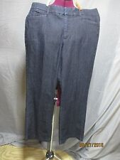 JM collection women's sz 12s petite blue denim trouser cut jeans inseam 29
