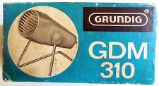 GRUNDIG GDM 310 MICROPHONE MICROFONO DYNAMISCHES VINTAGE